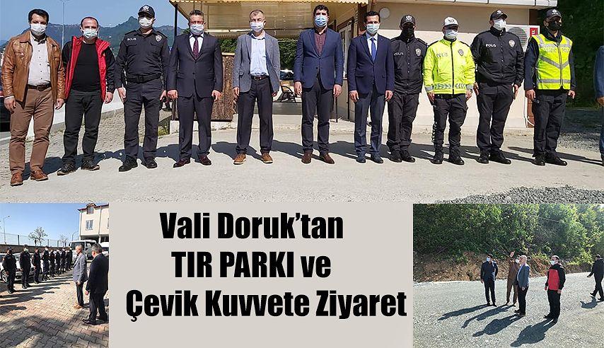Vali Doruk, TIR PARKINI İNCELEDİ.