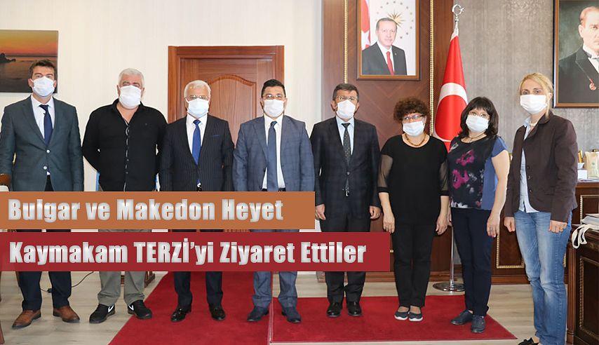 Bulgar ve Makedon heyeti, Kaymakam Terzi'yi ziyaret ettiler