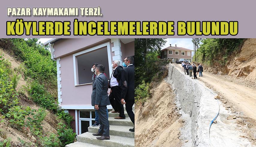 Kaymakam Terzi,3 Köyde İnceleme yaptı.