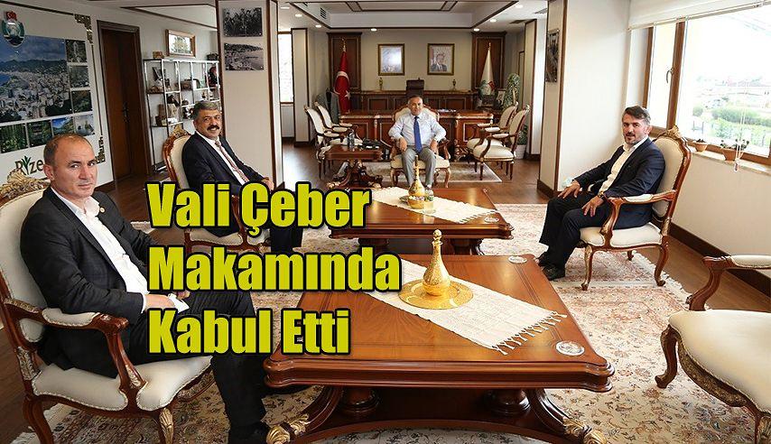 Vali Çeber'i Ziyaret Etti