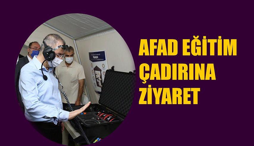 AFAD FARKINDALIK EĞİTİM ÇADIRINI ZİYARET ETTİ.