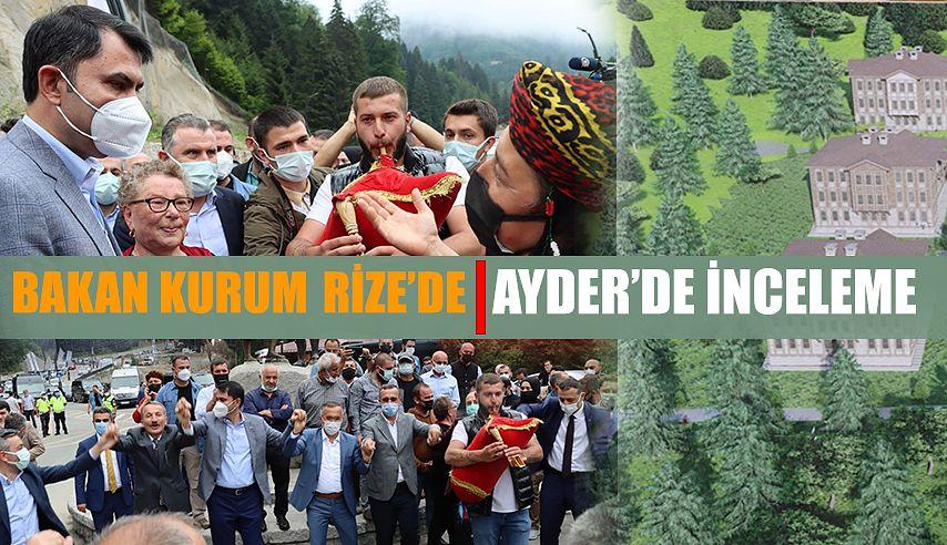 Çevre ve Şehircilik Bakanı Murat Kurum, Rize'yi Ziyaret Etti