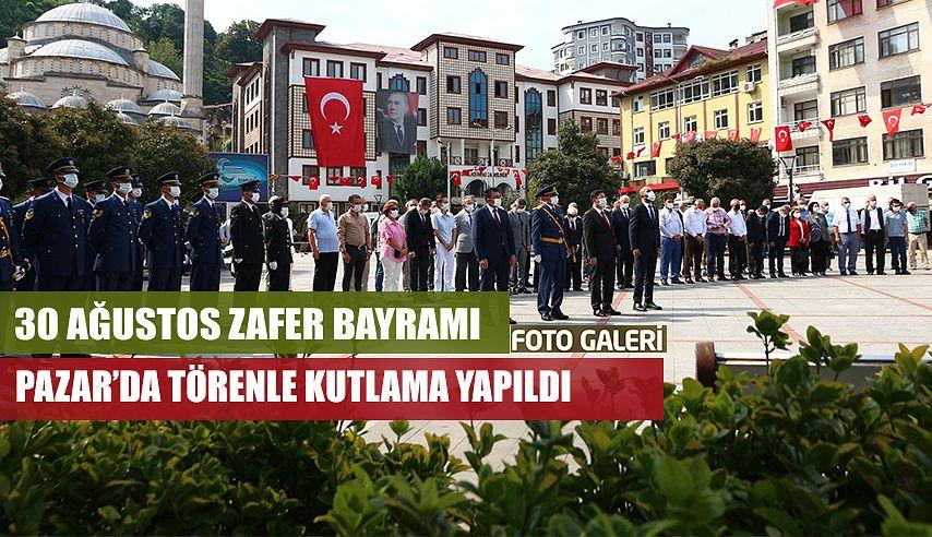 30 Ağustos Zafer Bayramı'nın 99. Yıl Dönümü Pazar'da Törenle kutlandı.