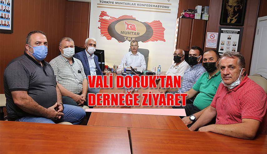 ARTVİN MUHTARLAR DERNEĞİNİ ZİYARET ETTİ.