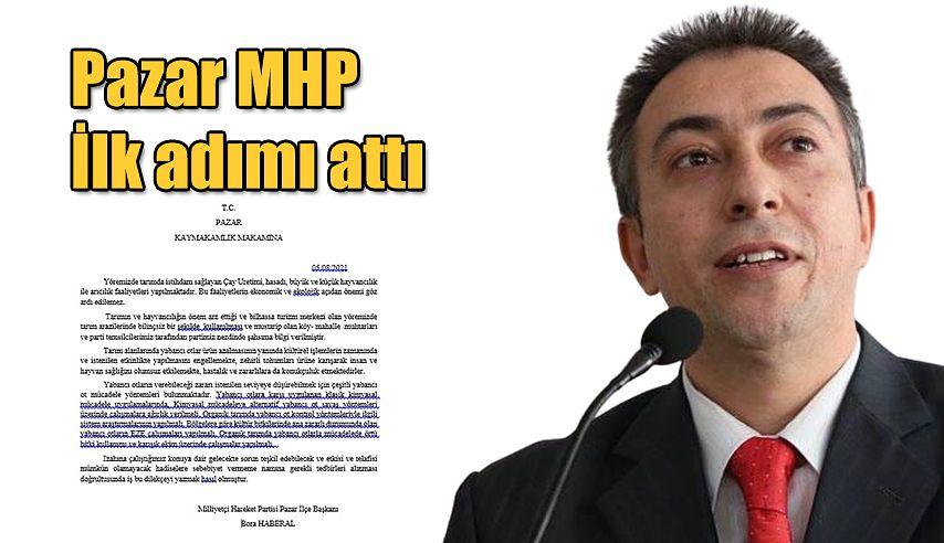 Pazar MHP'den İlk adım atıldı