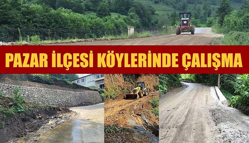 Pazar'da Köylerde yoğun çalışma..