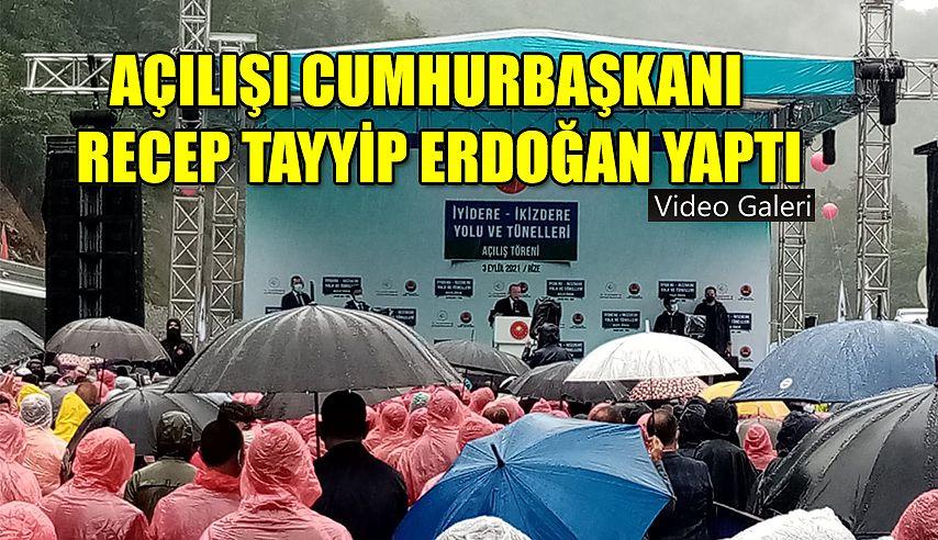 Cumhurbaşkanı Erdoğan Rize'yi Erzurum'a bağlayan yolun açılışını yaptı