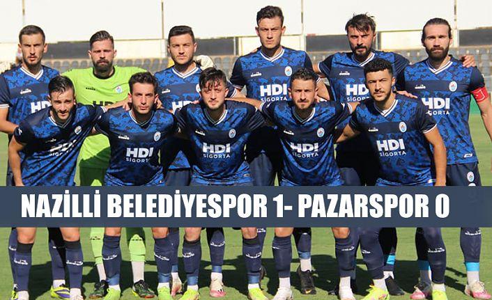 Pazarspor, Nazilli Belediyespor'a 1-0 mağlup oldu