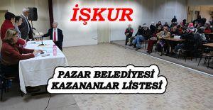bİşkur Pazar Belediyesi Kur#039;a.../b