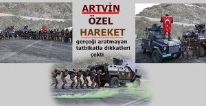 ÖZEL HAREKÂT POLİSLERİNDEN GERÇEĞİNİ ARATMAYAN TATBİKAT