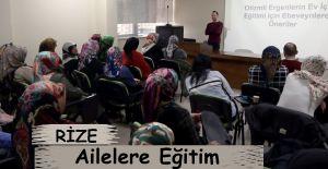 Rize'de otizmli ailelere yönelik eğitimler...