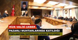 bVALİ ÇEBER, MUHTARLARI DİNLEDİ/b