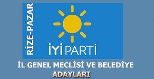 İYİ Parti Pazar İl Genel ve Belediye Meclis üyeleri