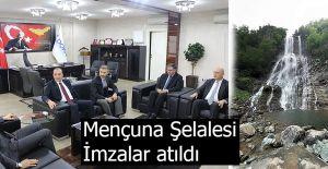 """""""MENÇUNA ŞELALESİ YEŞİL YOL PROJESİ"""" İÇİN İMZALAR ATILDI"""