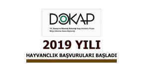 2019 YILI DOKAP HAYVANCILIK DESTEKLEMELERİ BAŞVURULARI BAŞLADI
