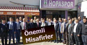 ARTVİN HOPASPORUN ÖNEMLİ MİSAFİRLERİ VARDI.