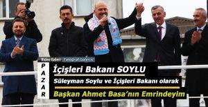 bİçişleri Bakanı Soylu Pazarda.../b