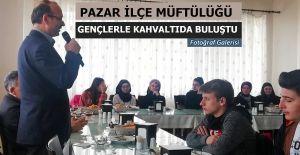 Pazar ilçe Müftülüğü Gençlik Koordinatörlüğü sınıf temsilcileri ile kahvaltıda buluştu.
