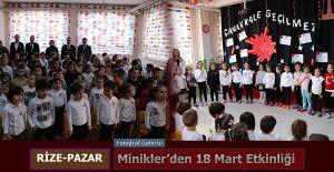 Pazar'da Minikler Çanakkale Zaferini unutmadı