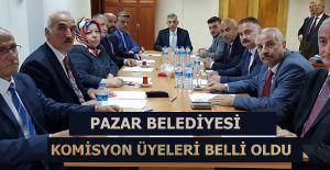 bPazar Belediye Meclisinde komisyon.../b