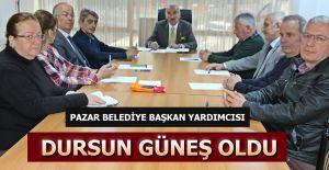 bPazar Belediyesinin yeni başkan.../b