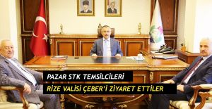 Pazar STK Temsilcileri Rize Valisi Çeber'i ziyaret ettiler