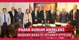 Pazar'da Kurum Amirleri Başkan Basa 'ya ziyarette bulundular