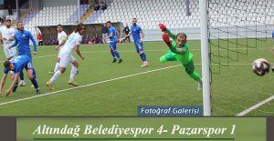 Pazarspor Ankara'da Altındağ BLD Spora 1-4 mağlup oldu.