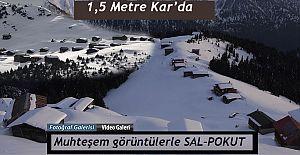 Pokut Yaylasına 1,5 Metre Kar'da macera dolu yolculuk