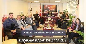 Rize-Fındıklı Ak Parti Teşkilatından Başkan Basa 'ya ziyaret