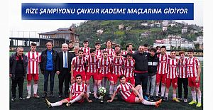 U19 RİZE ŞAMPİYONU ÇAYKURSPOR GÜMÜŞHANE YOLCUSU