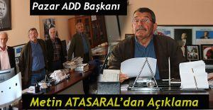 ADD Pazar İlçe Başkanı Atasaral'dan açıklama
