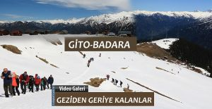 GİTO-BADARA 'da Karlar erimeye başladı