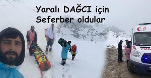 Kaçkar Dağları'nda yaralanan dağcı için 112 personeli seferber oldu