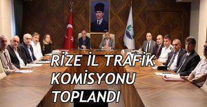 bRize İl Trafik Komisyonu Toplandı/b