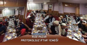 Rize-Pazar'da Protokolsüz İftar Yemeği