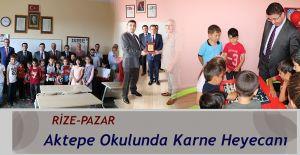 Aktepe Köyünde Karne Dağıtma Töreni