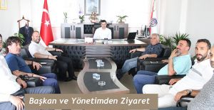 ARTVİN HOPASPOR YÖNETİMİNDEN KAYMAKAM CANPOLAT'A ZİYARET