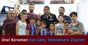Ünal Karaman, Artvin'de kulübünün futbol okulu sporcularıyla bir araya geldi.