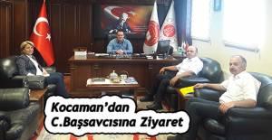 BAŞMÜDÜR KOCAMAN'DAN BAŞBAY'A ZİYARET