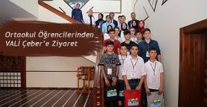 Ortaokul Öğrencilerinden Vali Çeber'e Ziyaret