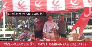Yeniden Refah Partisi Rize-Pazar İlçe Teşkilatı üye kampanyası başlattı.