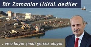 """Bakanı Cahit Turhan"""" Projenin yüzde 40'a yakınını tamamlamış bulunuyoruz."""" dedi."""