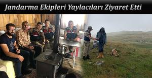 JANDARMA EKİPLERİNDEN YAYLACILARA ANLAMLI...