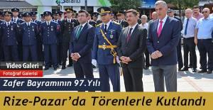 Pazar'da 30 Ağustos Zafer Bayramı meydanda kutlandı
