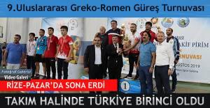 Rize'de Akif Pirim Güreş Turnuvası sona erdi