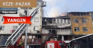 RİZE-Pazar Meydanında Yangın Korkuttu
