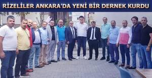 Rizeliler Ankara'da Yeni Bir Dernek Kurdu