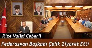 Spor Camiasından Vali Çeber'e ziyaret