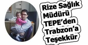 Tepe'den Ali Cansu'ya teşekkür